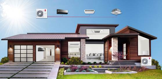 LG giới thiệu điều hòa chuyên dụng Multi Split cho biệt thự nhiều phòng