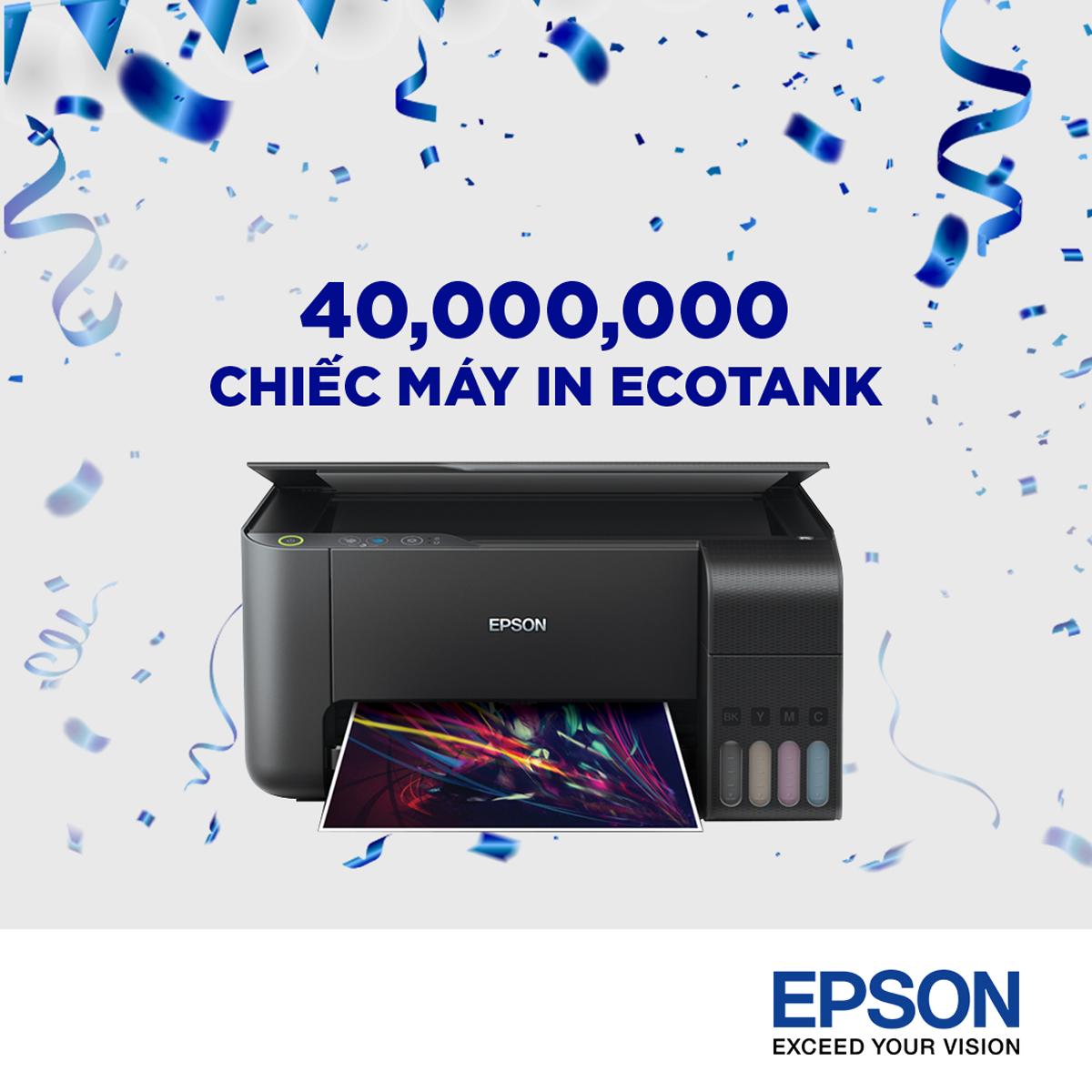 Epson tuyên bố bán được 40 triệu chiếc máy in phun trên toàn cầu, dự kiến bán tiếp hơn 10 triệu chiếc chỉ trong năm 2019