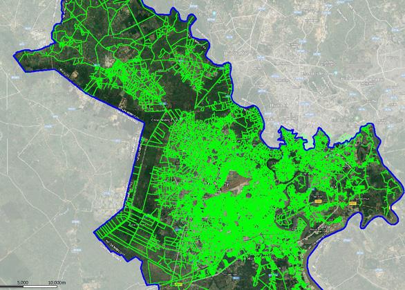 Bản đồ vùng phủ trạm NB-IoT tại TP.HCM