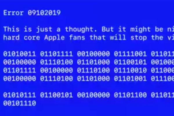 Đoạn nhị phân trong video của Apple có ý nghĩa gì?