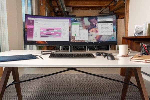 HP giới thiệu màn hình siêu dài, phát hình từ 2 thiết bị cùng lúc