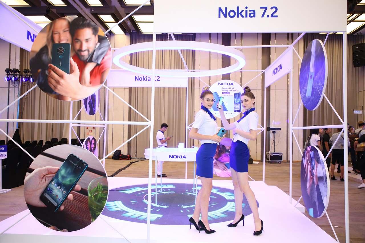 """Nokia 7.2 ra mắt tại VN: 4 camera 48 """"chấm"""" ống kính Zeiss, mặt lưng kính mờ như iPhone 11, giá 6,2 triệu đồng"""