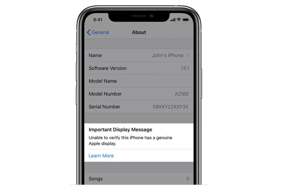 iPhone 11 và 11 Pro sẽ cảnh báo ở màn hình khóa nếu không thể xác minh màn hình đã bị thay
