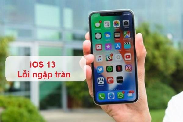 Những lỗi phổ biến khi cập nhật lên iOS 13
