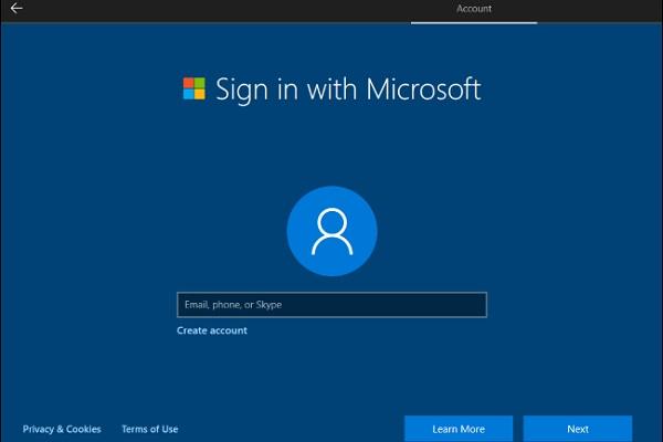 """Quá trình cài đặt Windows 10 """"gây khó dễ"""" việc tạo tài khoản cục bộ"""