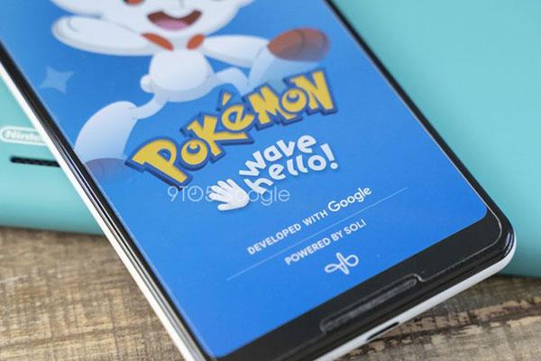 Google kết hợp cùng The Pokémon Company phát triển game sử dụng cảm biến Soli trên Pixel 4