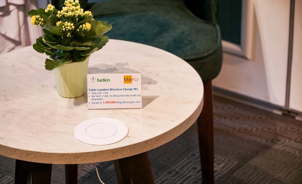 Belkin giới thiệu bàn café tích hợp sạc không dây tại VN, công bố Meko là nhà phân phối mới