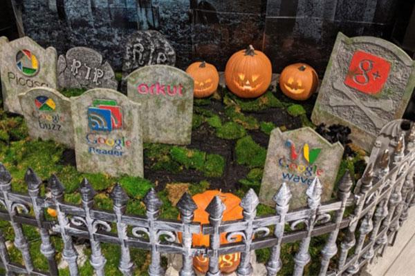 Nhân dịp Halloween, Google dựng nghĩa địa 'tưởng nhớ' các dịch vụ bị khai tử