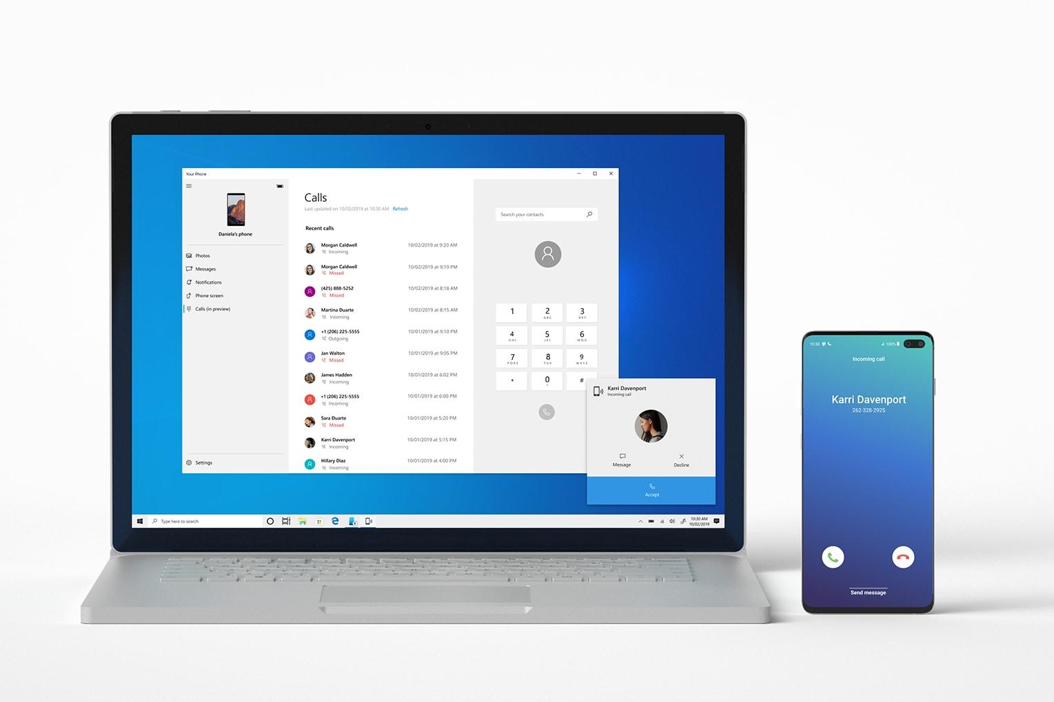Người dùng Android đã có thể nhận và trả lời cuộc gọi trên máy tính chạy Windows 10