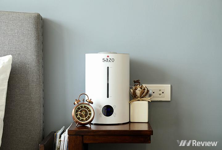 Trên tay máy phun sương Sazo SZ-X1: thiết kế đẹp, kiểm soát độ ẩm ổn định