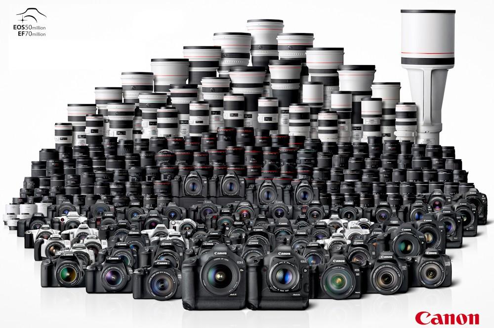 Canon tuyên bố đã có 100 triệu máy ảnh dòng EOS dùng ống kính rời được xuất xưởng