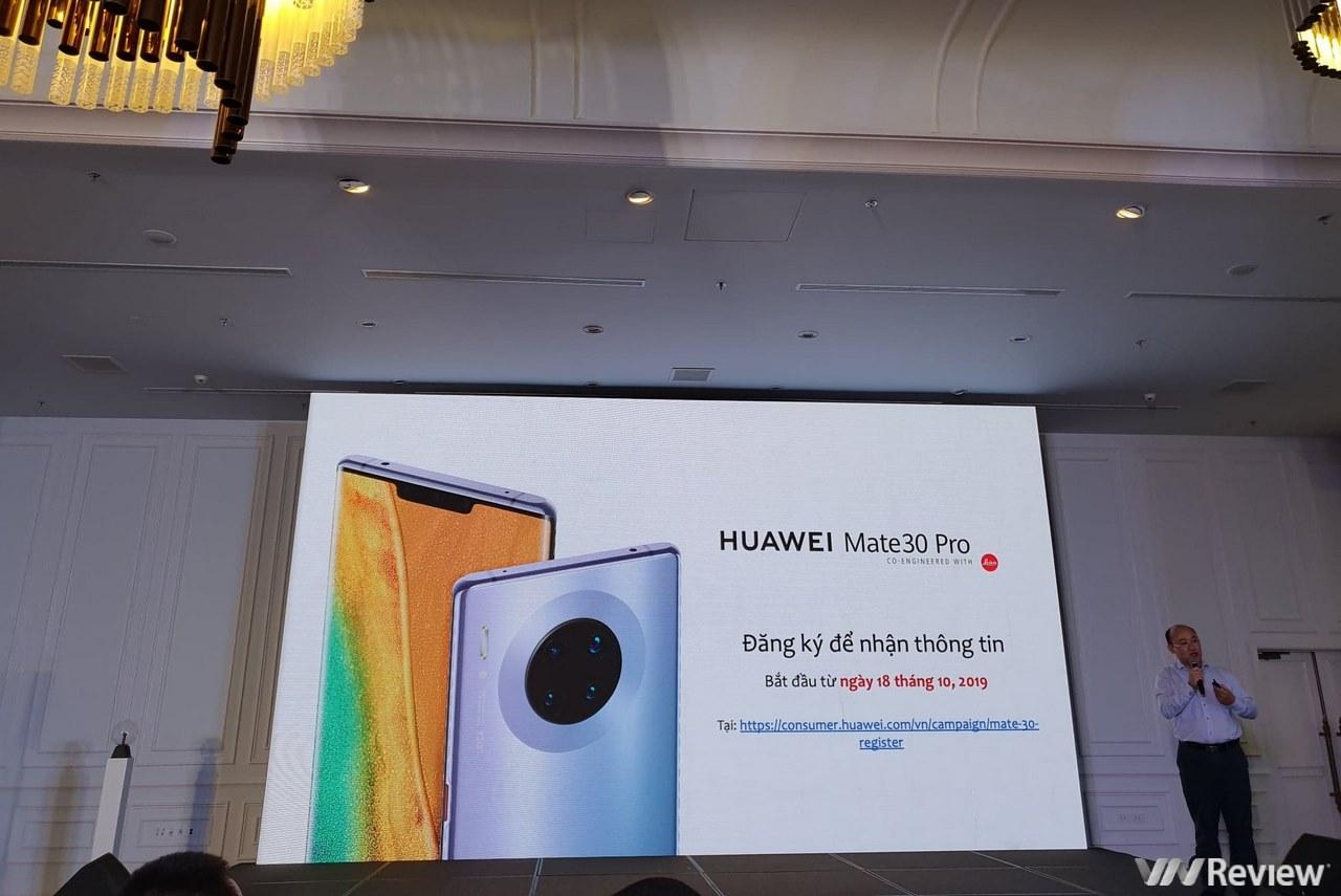 Huawei tuyên bố sẽ bán Mate 30 Pro tại Việt Nam nhưng chưa có giá và ngày lên kệ, app Google, Facebook vẫn vắng bóng