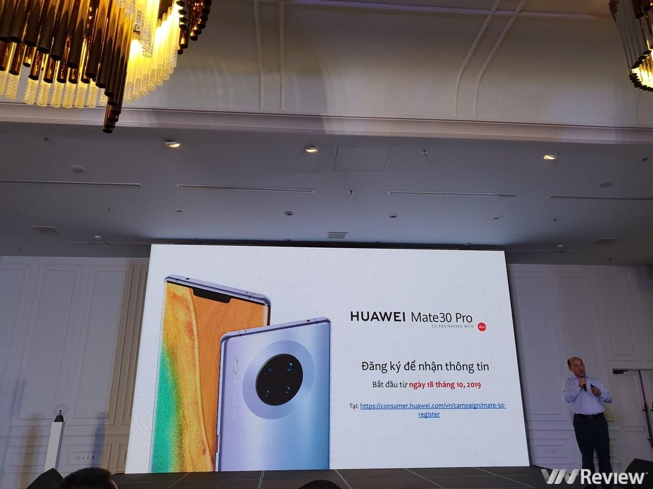 Huawei tuyên bố sẽ bán Mate 30 Pro tại Việt Nam nhưng chưa có giá và ngày lên kệ