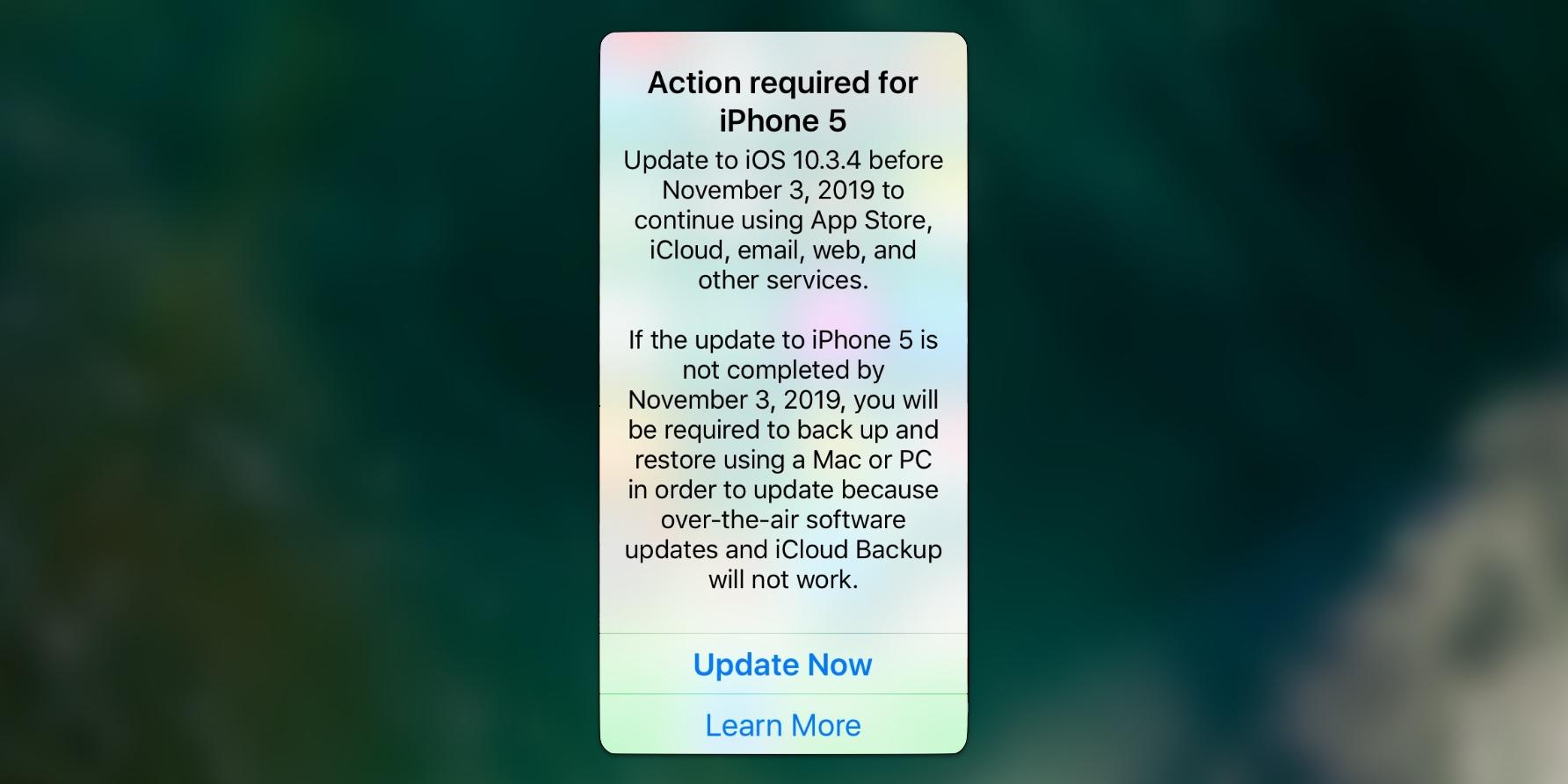 Nếu bạn đang sử dụng iPhone 5, hãy cập nhật lên iOS 10.3.4