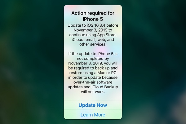 Nếu bạn đang dùng iPhone 5, hãy cập nhật iOS 10.3.4