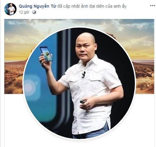 CEO Nguyễn Tử Quảng gia nhập Facebook, chia sẻ đầu tiên là công bố về Bphone 4