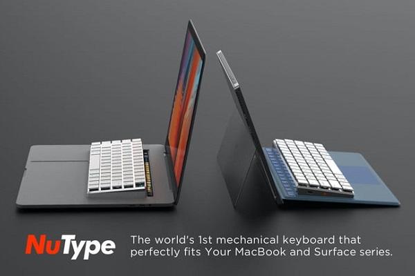 """Mẫu bàn phím cơ """"gắn liền"""" cho Macbook và Surface sắp được gọi vốn trên Kickstarter"""