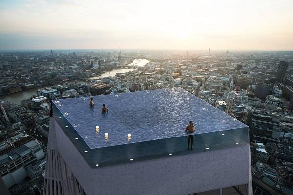 Làm thế nào để vào được bể bơi vô cực view 360 độ trên đỉnh tòa nhà chọc trời này?