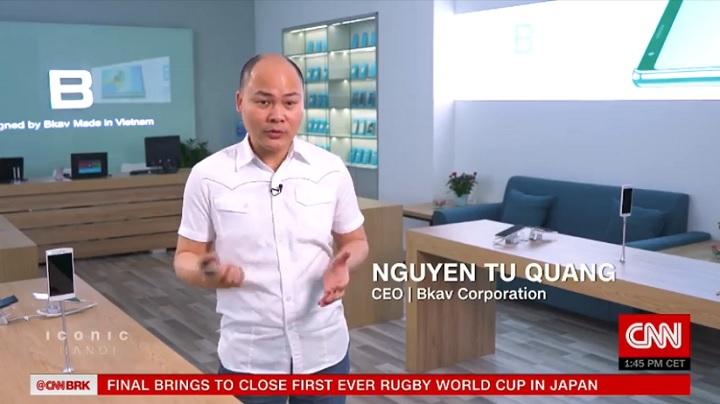 Bkav, Bphone xuất hiện trên CNN quốc tế là biểu tượng công nghệ Việt Nam
