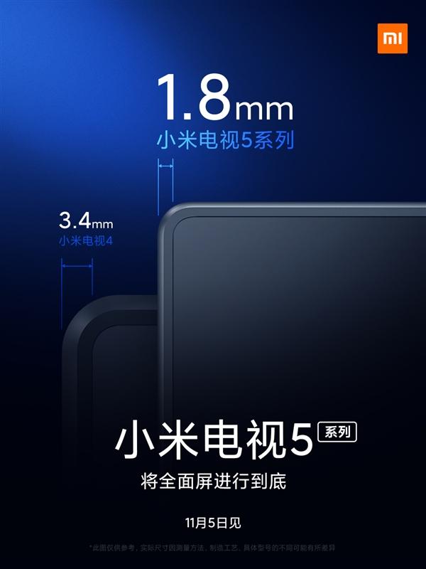 Xiaomi nhá hàng dòng Mi TV 5, độ dày 5,9mm cùng màn hình chấm lượng tử