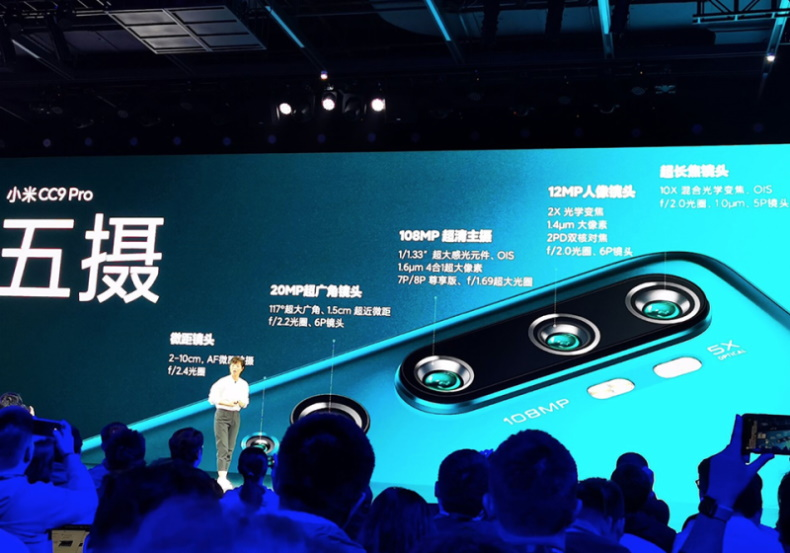 Xiaomi Mi CC9 Pro đứng đầu bảng xếp hạng DxOMark, ngang Huawei Mate 30 Pro và vượt Galaxy Note10+