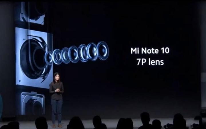 Xiaomi Mi Note 10 chính thức ra mắt: 5 camera sau, cảm biến chính 108 MP