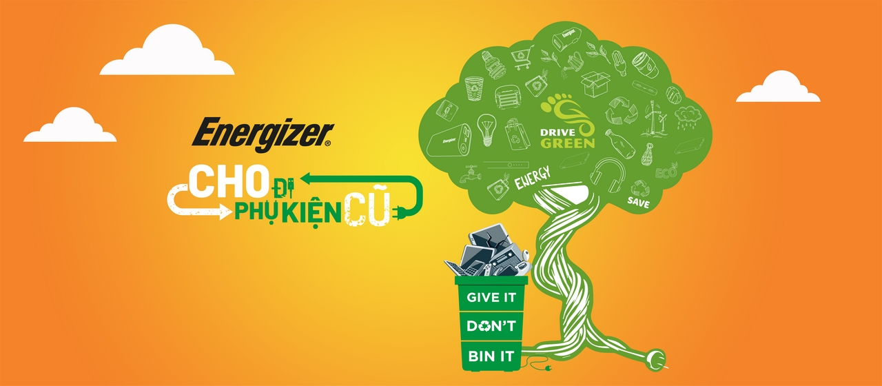 Nhà phân phối pin Energizer - DTR phát động chiến dịch Drive Green, cam kết cải thiện con số đáng báo động khi chỉ 12,5% rác thải điện tử được tái chế mỗi năm