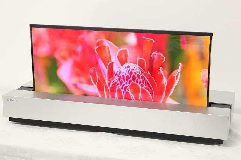 Sharp giới thiệu màn hình OLED 4K đột phá, không bộ lọc màu, cuộn lại như giấy, mỏng 0,5mm