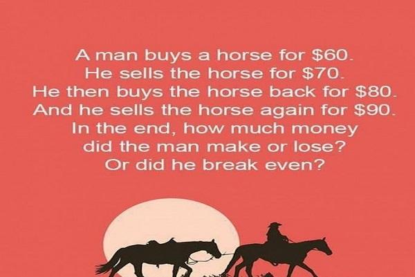 Bài toán mua ngựa khiến hàng nghìn người tranh cãi gay gắt