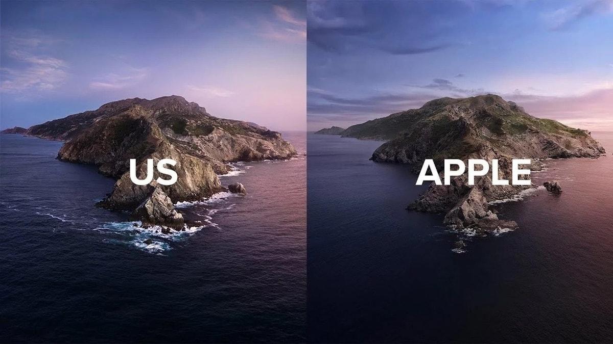 """Các nhiếp ảnh gia nỗ lực """"tái hiện"""" hình nền của macOS Catalina ngoài đời thực"""