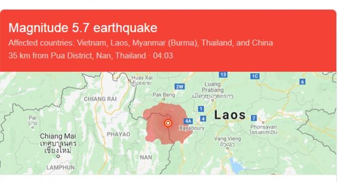 Người dân Hà Nội vừa chịu rung chấn động đất ở Lào