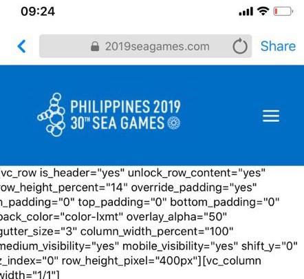 Vừa khai mạc, trang web sơ sài của SEA Games 30 đã sập