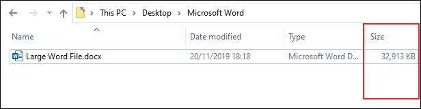 Có giới hạn nào về kích thước đối với một tập tin văn bản Microsoft Word hay không?