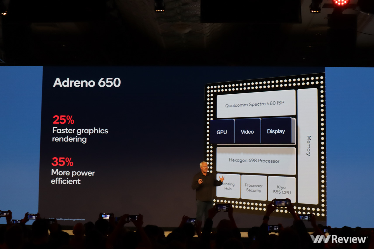 Thông số chi tiết Qualcomm Snapdragon 865: hỗ trợ camera 200MP, màn hình 144Hz, tất cả băng tần 5G, quay video 8K, slowmotion 4K 120fps, mạnh hơn 25% so với 855