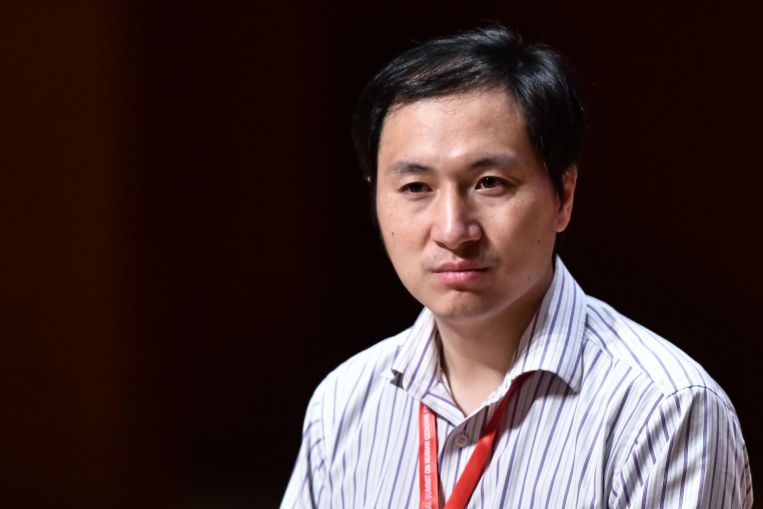 Ông Hạ Kiến Khuê tại Hội nghị Quốc tế về Chỉnh sửa Bộ gen người lần thứ 2, được tổ chức ở Hồng Kông năm 2018 (Ảnh: AFP)