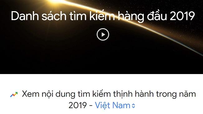 Những từ khóa được người Việt google nhiều nhất 2019