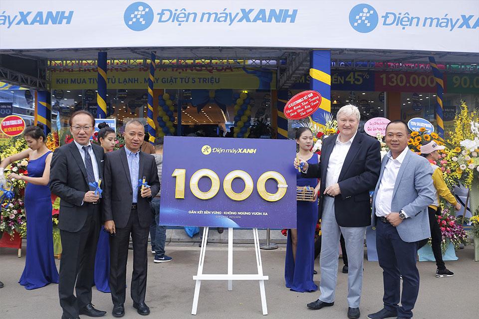 Điện máy Xanh đạt mốc 1.000 cửa hàng, sắp tiến quân sang Campuchia
