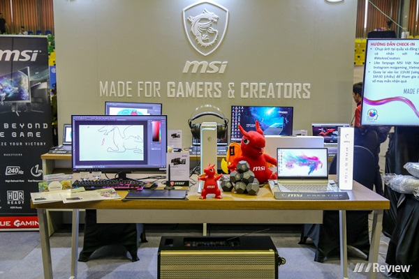 MSI trình diễn loạt sản phẩm Prestige chuyên cho dân sáng tạo tại Vietnam Creators Bootcamp Season 2