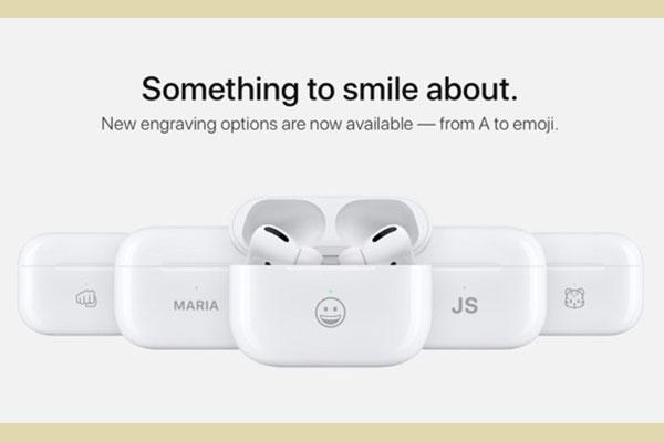 Apple sẽ khắc miễn phí emoji lên hộp sạc AirPods