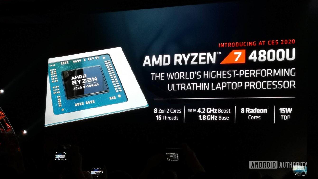 [CES 2020] AMD công bố CPU Ryzen 7 4800U, bộ xử lý laptop đầu tiên xây dựng trên tiến trình 7nm