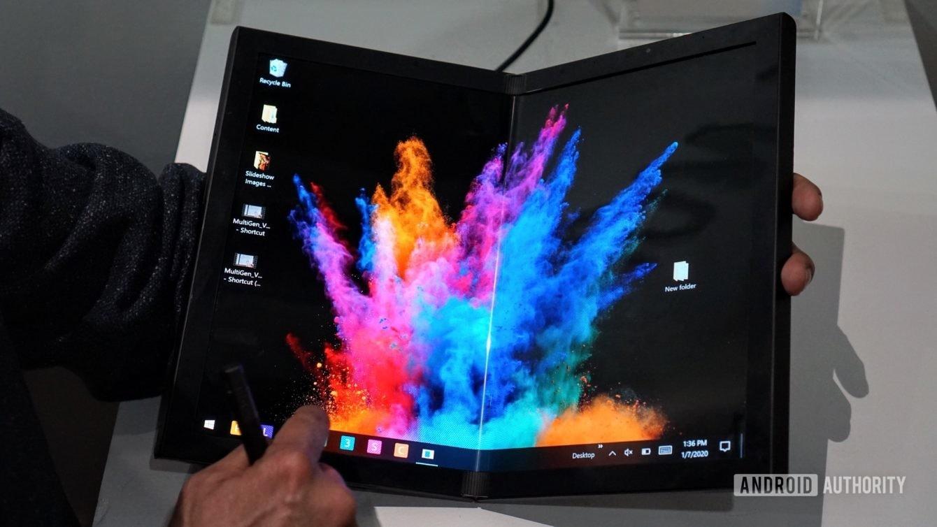 [CES 2020] Dell trình diễn tablet màn hình gập và laptop hai màn hình