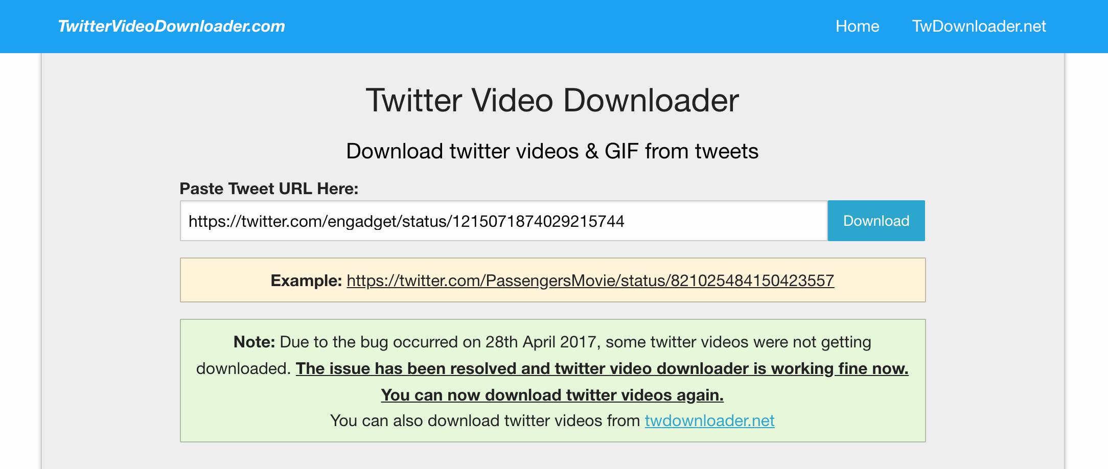 Cách tải video Twitter về máy