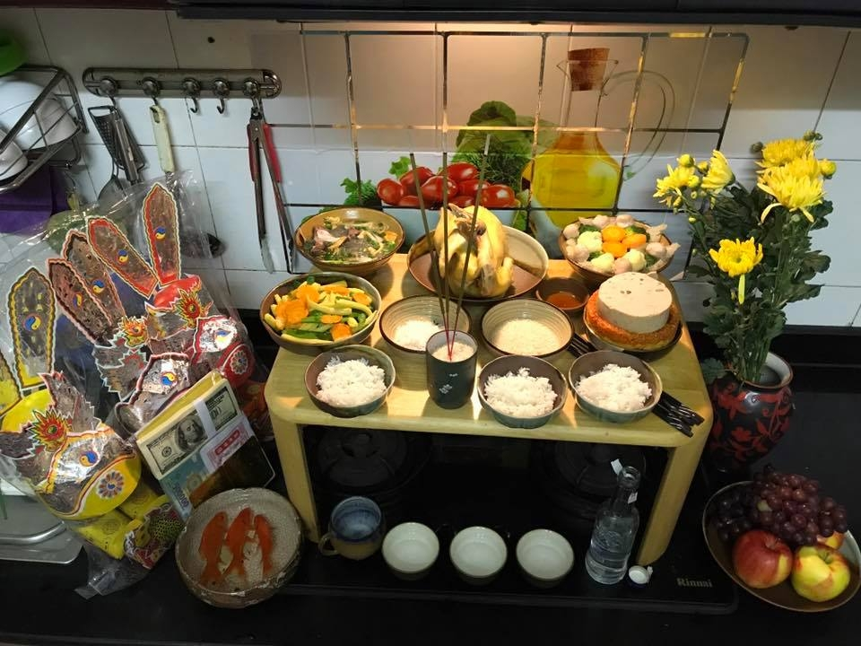 Lễ cúng Táo Quân ở trong bếp