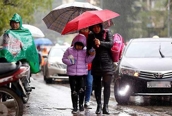 Thời tiết các tỉnh miền Bắc: cả Tết Nguyên đán mưa rét