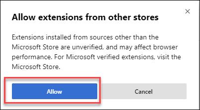 Cách cài đặt extension của Google Chrome cho Microsoft Edge