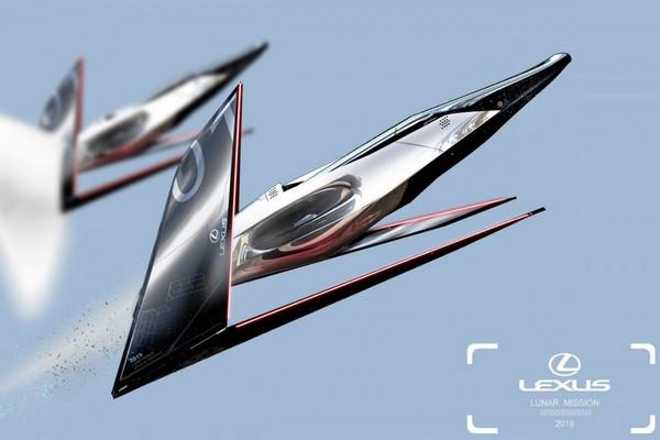 Lexus đưa ra loạt ý tưởng xe hơi di chuyển trên Mặt Trăng