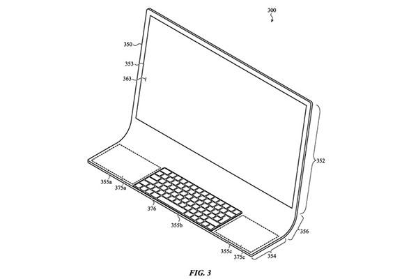 Apple nhận bằng sáng chế iMac làm bằng kính cong