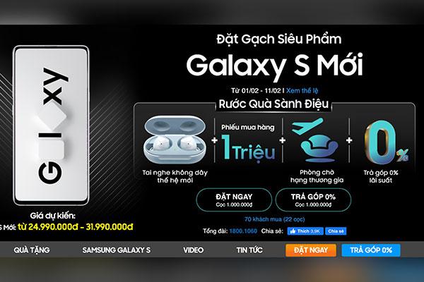 Cửa hàng Việt Nam cho đặt trước Galaxy S20+ và S20 Ultra, giá từ 25 triệu đồng