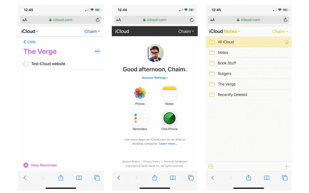 Apple cập nhật trang web iCloud.com, cho phép sử dụng các ứng dụng trên trình duyệt web iOS, Android | Từ nay, bạn đã có thể truy cập vào các ghi chú và lời nhắc được tạo bởi các ứng dụng iOS mặc định của Apple từ bất kỳ nền tảng nào, thông qua trình duyệt web.  Apple mới đây đã quyết định cập nhật trang web iCloud.com của mình, giúp các ứng dụng iCloud hoạt động được trên nền tảng trình duyệt web di động chạy trên các nền tảng iOS và Android. Điều này sẽ giúp người dùng dễ dàng truy cập và sử dụng các dịch vụ của Apple như Notes (Ghi chú), Photos (Ảnh), Reminders (Lời nhắc) và Find My iPhone (Tìm iPhone) ngay trên trình duyệt web của điện thoại di động thông minh.