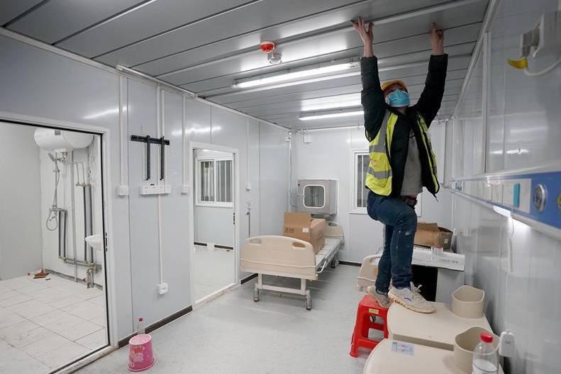 Bên trong bệnh viện Lôi Thần Sơn 1.300 giường lớn nhất Vũ Hán nhằm chống virus Corona